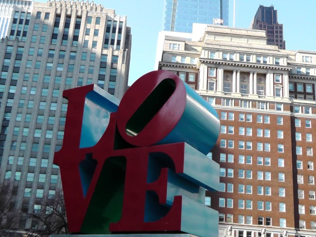 Love sculpture, robert indiana, love park, philadelphia, travel, travelogue, ailsa prideaux-mooney