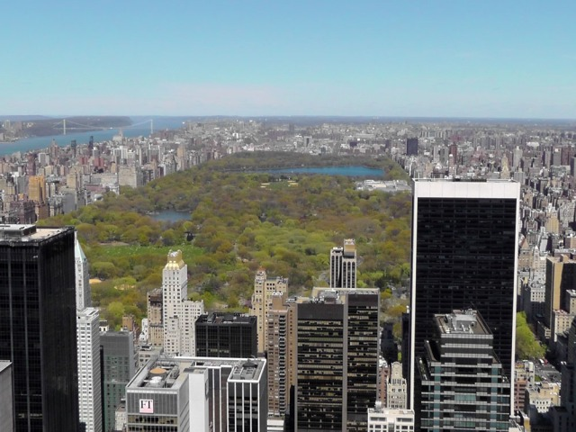 Looking north from the Top of the Rock, Manhattan, Central Park, New York City, Top of the Rock, Rockefeller Center, travel, travelogue, ailsa prideaux-mooney