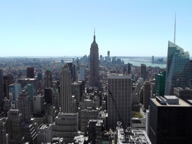 Looking south from the Top of the Rock - towards the Empire State Building
