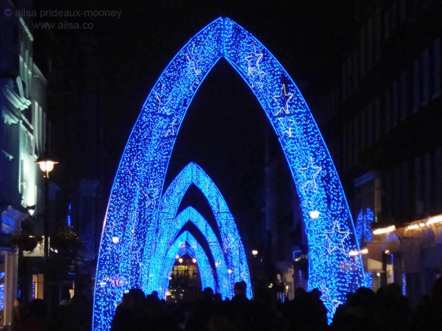 blue christmas london