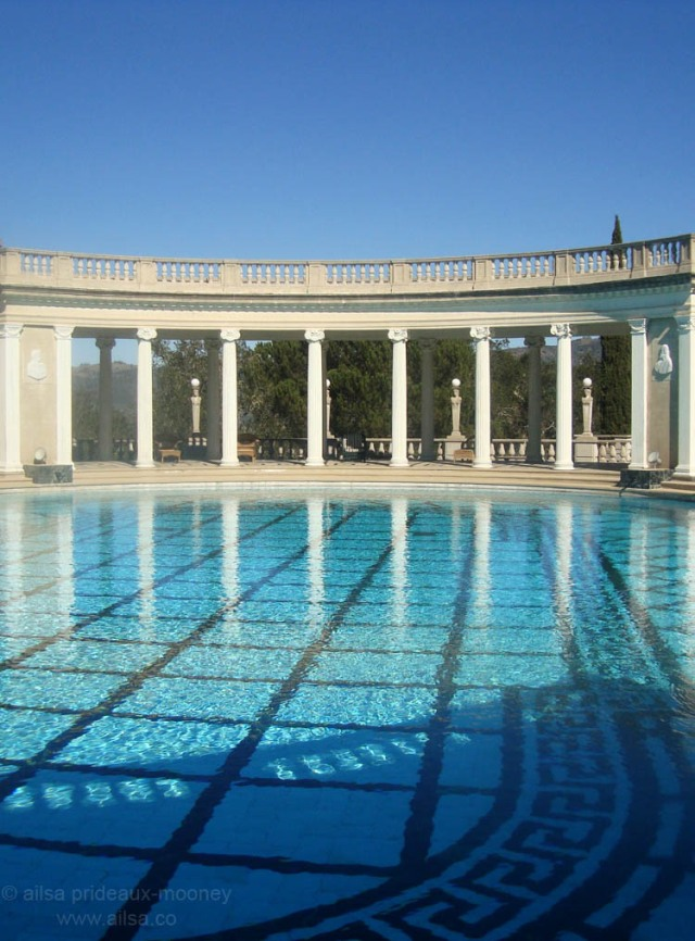 blue hearst castle pool