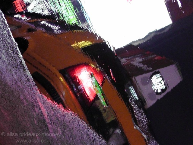 reflections yellow cab new york