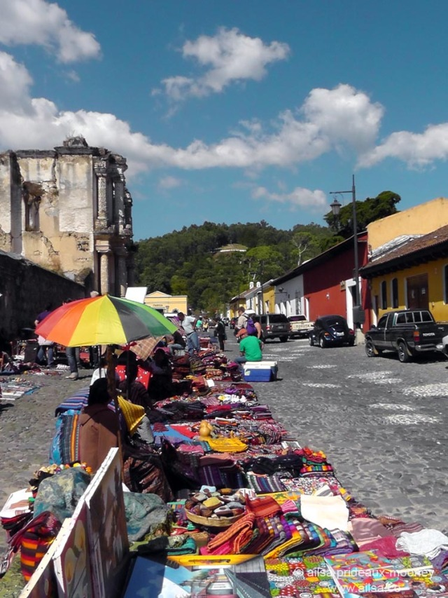 street market central america guatemala antigua