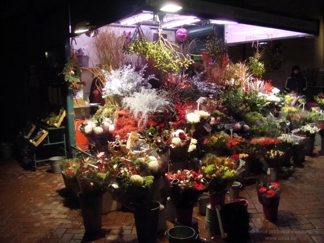 street market flowerstall london embankment