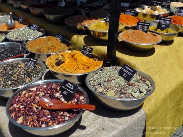 street market spices