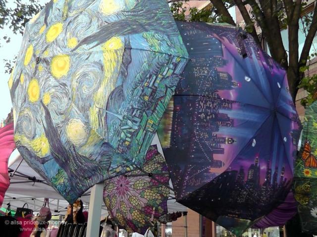 street market umbrellas