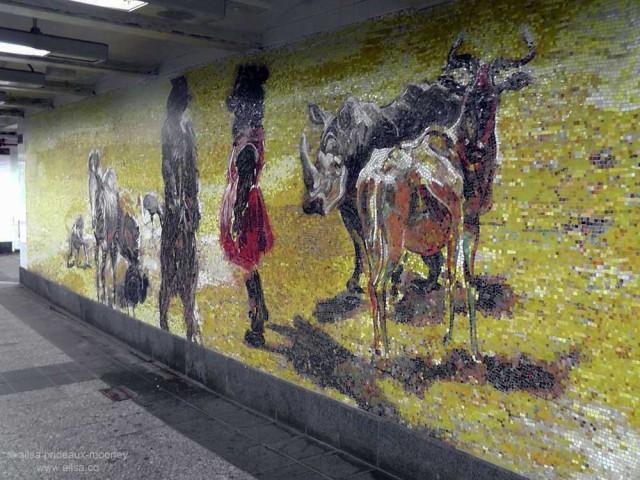 subway art new york 34th penn station