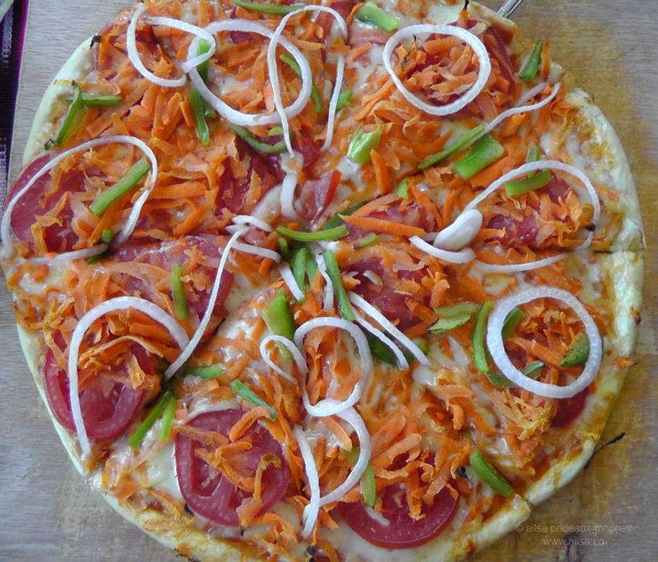 food carrot pizza