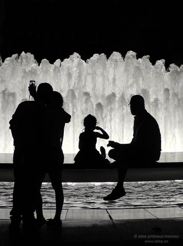 silhouette fountain lincoln center new york