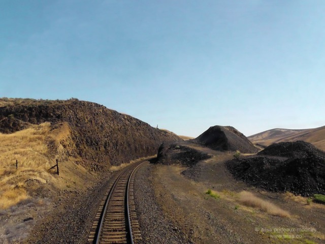 full steam ahead empire builder eastern washington train tracks amtrak travel