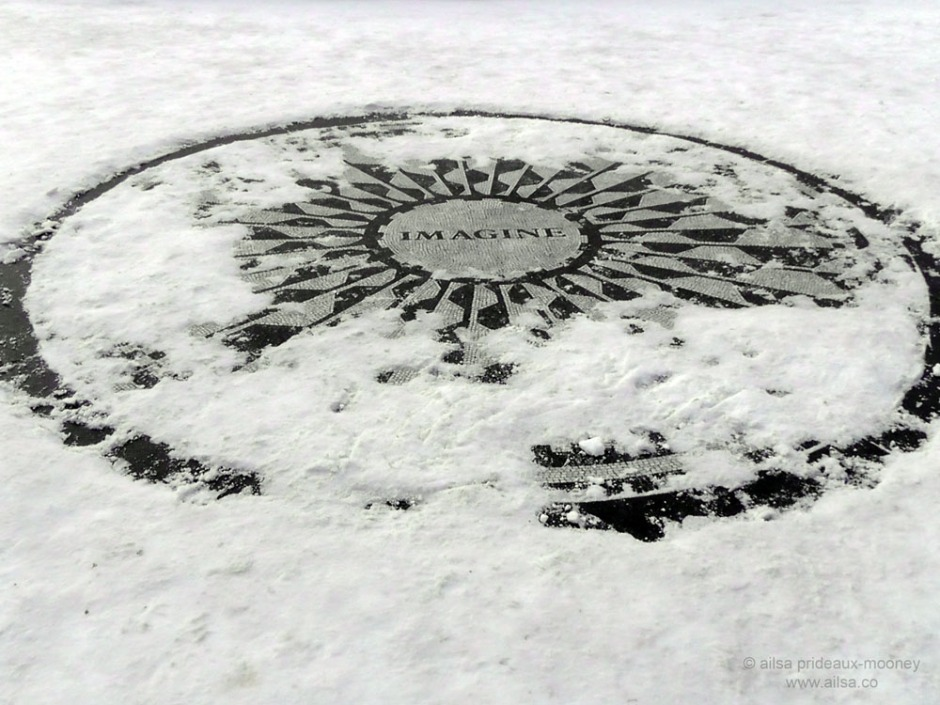 imagine john lennon peace snow strawberry fields