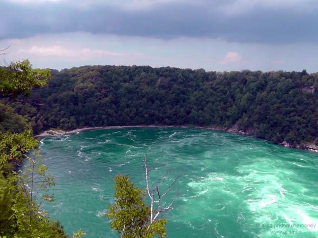 niagara falls whirlpool vista basin canada america