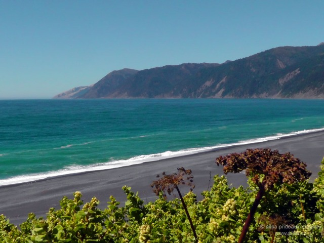 black sands beach lost coast california usa road trip us america