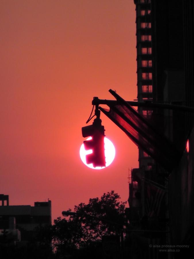 new york hot summer heat sun red usa us america