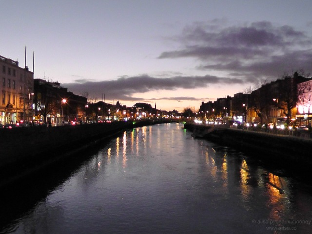 river liffey dublin ireland sunset