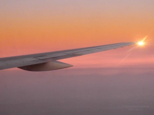 airplane aeroplane wing flight new york dawn travel
