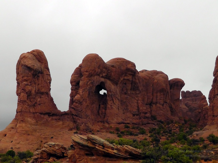 parade of elephants arches national park windows road trip utah usa us america