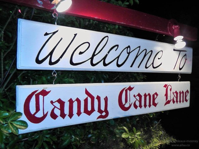 candy cane lane seattle washington us usa america christmas holidays lights
