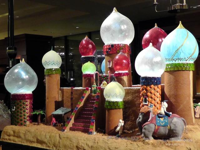 aladdin magical castle sheraton seattle gingerbread house castle village christmas
