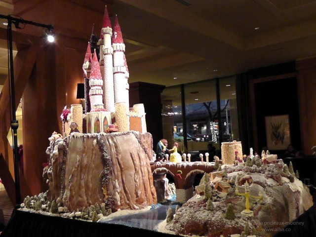 Beauty and the Beast enchanted castle gingerbread house village seattle sheraton christmas