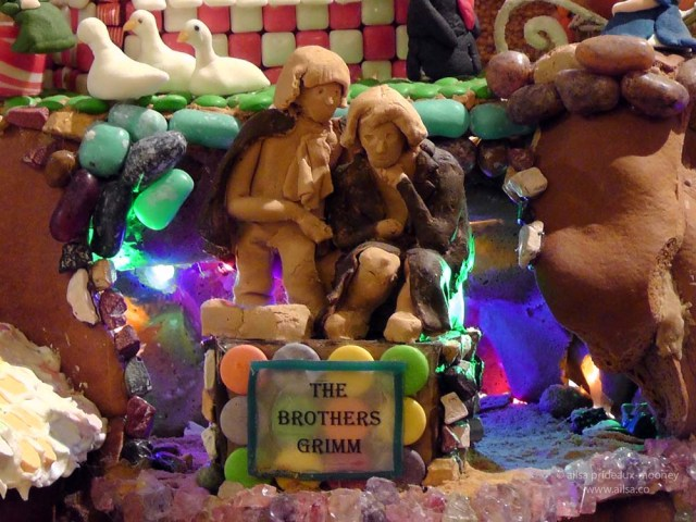 gingerbread house village brothers grimm fairy tale castle seattle sheraton christmas