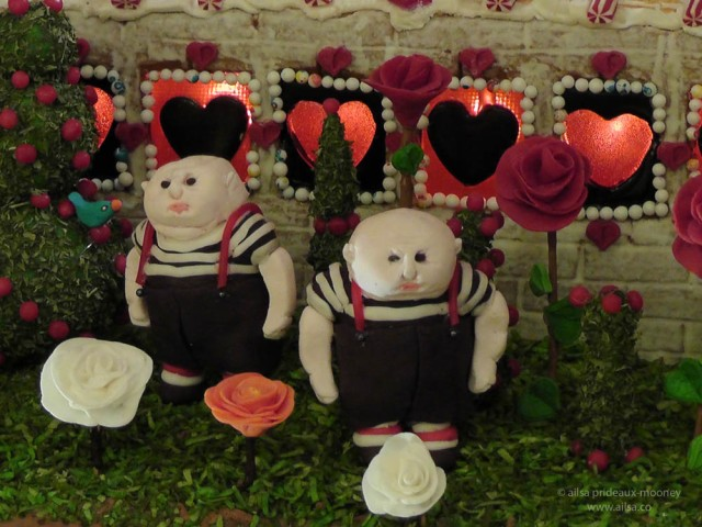 alice wonderland castle gingerbread house village seattle sheraton christmas tweedle-dum tweedle-dee