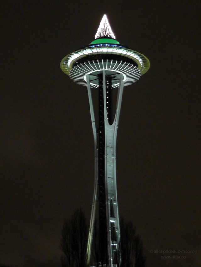 Seattle space needle christmas tree