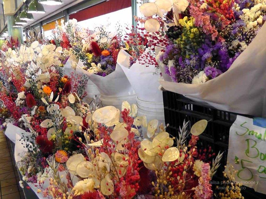 pike place market, flower market, seattle, travel, travelogue, ailsa prideaux-mooney