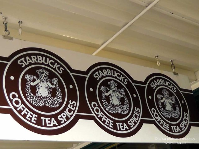 original starbucks, starbucks coffee, seattle, pike place market, travel, travelogue, photography, ailsa prideaux-mooney