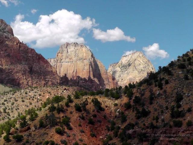 zion national park utah road trip driving utah us usa america canyon valley peak monolith