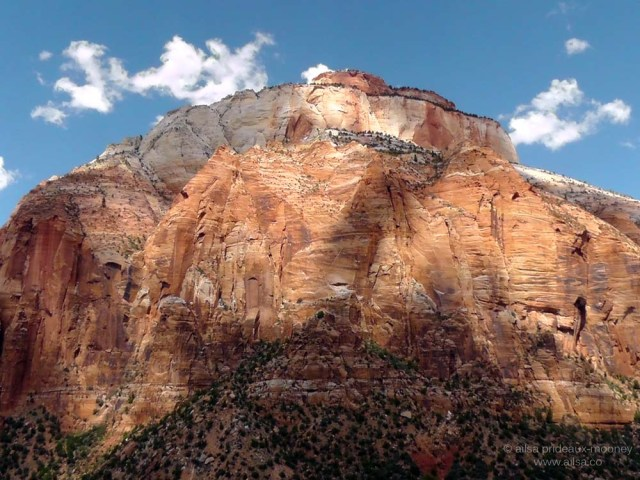 zion national park peak monolith canyon utah road trip us usa america driving