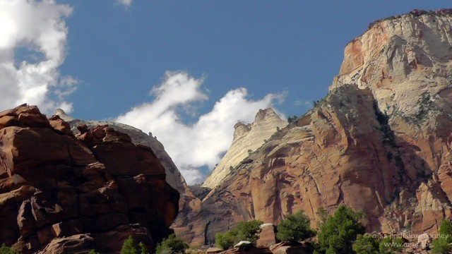 zion national park peaks monoliths canyon valley us road trip usa america driving