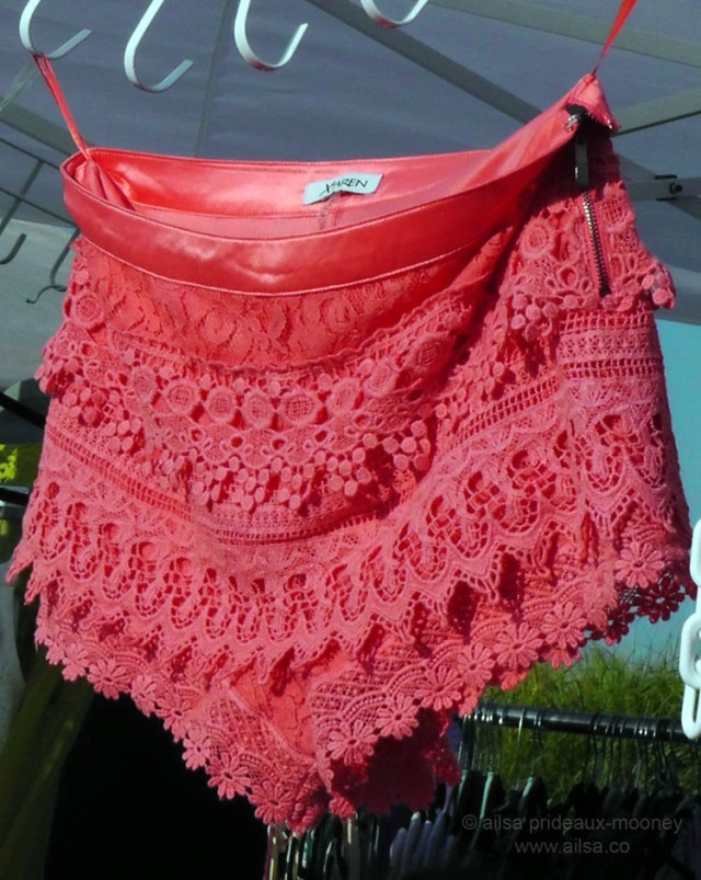 jersey shore hot pink lace shorts hotpants