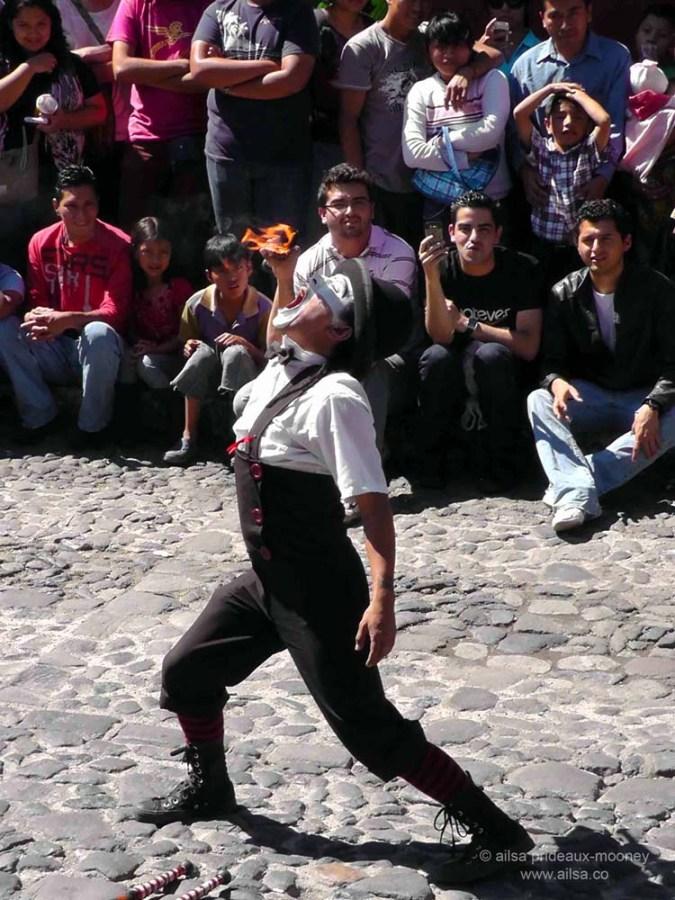 fire eater, guatemala, antigua, festival, street performer, travel, ailsa prideaux-mooney