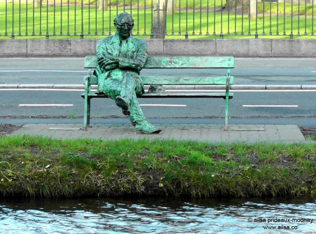 patrick kavanagh statue, grand canal, ireland, dublin, travel, royal canal