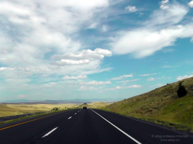 montana, big sky country, freeway, highway, road trip, travel, travelogue, ailsa prideaux-mooney