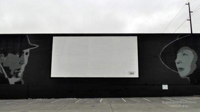 fremont, outdoor movie, seattle, travel, mural, bergman, bogart, photography, ailsa prideaux-mooney