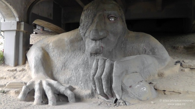 billy goats gruff, fremont troll, seattle, washington, usa, travel, photography, ailsa prideaux-mooney