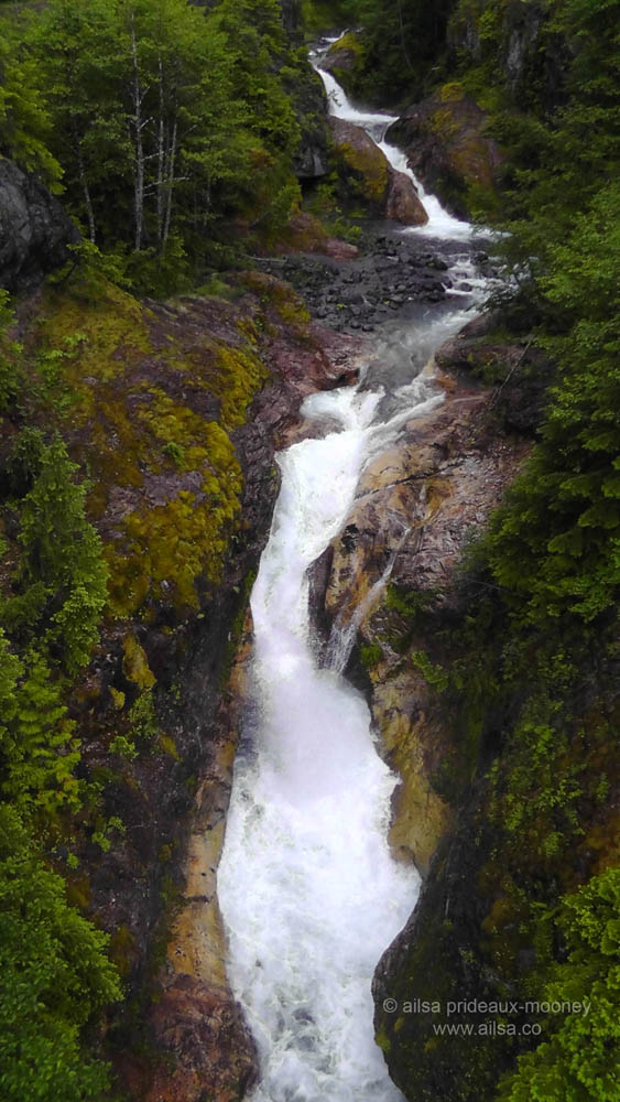 mount st helens, lava canyon, washington, hiking, travel, travelogue, photography, ailsa prideaux-mooney, waterfall