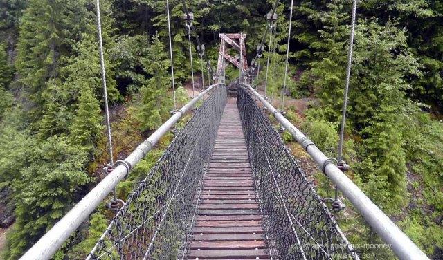 mount st helens, lava canyon, washington, hiking, travel, travelogue, photography, ailsa prideaux-mooney, suspension bridge