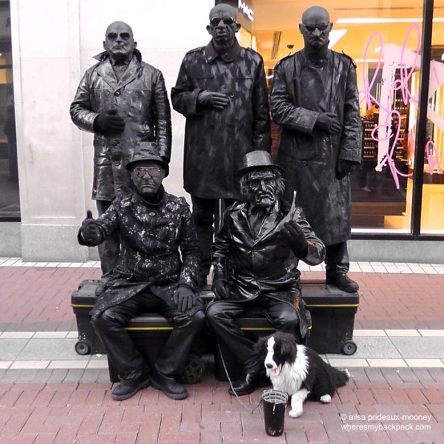 dublin, grafton street, ireland, living statues, travel, travelogue, ailsa prideaux-mooney, travel photography, travel blog