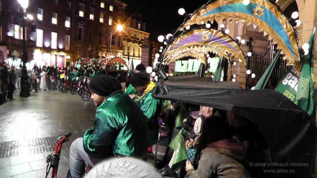 people's procession of lights, dublin, new year's eve, ireland, the gathering, travel, travelogue, parade, photography, ailsa prideaux-mooney