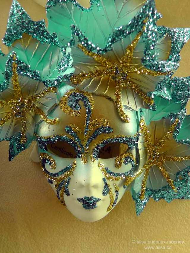 carnival mask, venetian, Rome, Italy, travel, travelogue, photography, Ailsa Prideaux-Mooney