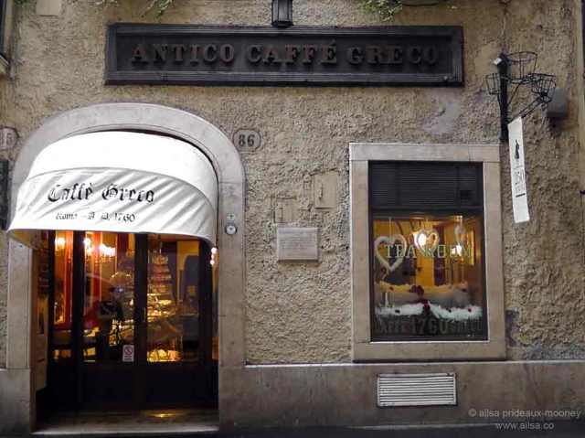 rome, italy, travel, literati, grand tour, photography, travelogue, travel, ailsa prideaux-mooney, antico caffe greco, coffee