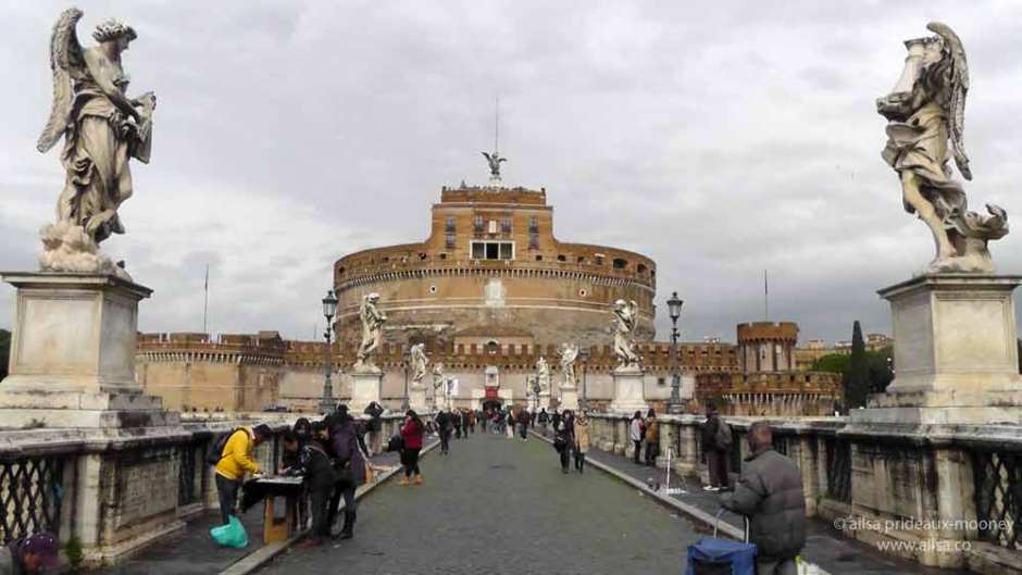castel sant'angelo, rome, italy, travel, travelogue, ailsa prideaux-mooney