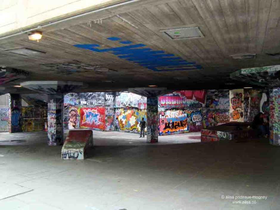london, south bank, graffiti, travel, travelogue, Ailsa Prideaux-Mooney