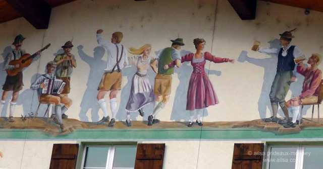 north cascades loop, leavenworth, washington, Bavarian village, travel, travelogue, Ailsa Prideaux-Mooney, mural