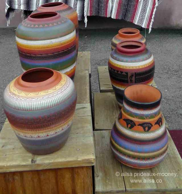 santa fe, new mexico, south western pottery, travel, travelogue, ailsa prideaux-mooney