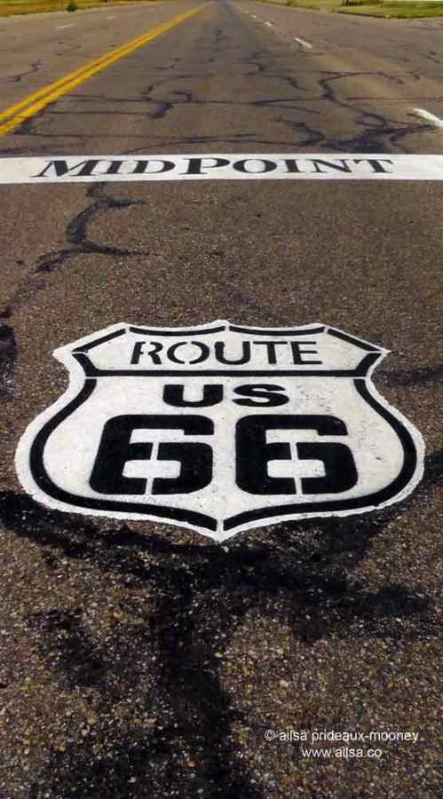 route 66, midway point, road trip, the great american road trip, travel, travelogue, ailsa prideaux-mooney