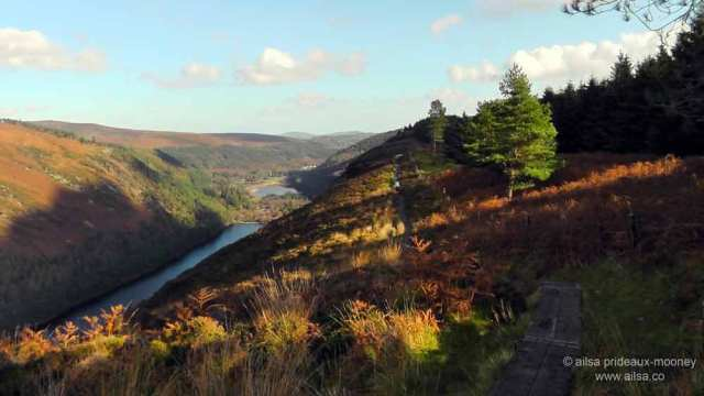 glendalough, spinc, spinc trail. blue trail, hiking, wicklow mountains, wicklow national park, wicklow, ireland, travel, travelogue, ailsa prideaux-mooney